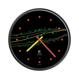 Chicago Lighthouse | Basil & Berries 12.75 inch decorative wall clock | Festive Colors