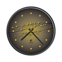 Chicago Lighthouse | Basil & Berries 12.75 inch decorative wall clock | Color: Citrus Bamboo
