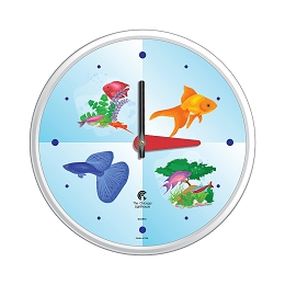Chicago Lighthouse | Aquarium  12.75 inch children's wall clock