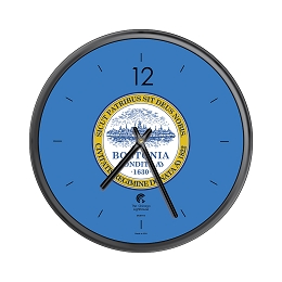 Chicago Lighthouse | City Flag - Boston  12.75 inch decorative wall clock