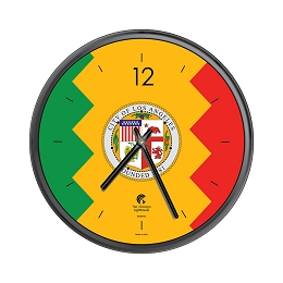 Chicago Lighthouse | City Flag - Los Angeles  12.75 inch decorative wall clock