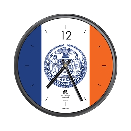 Chicago Lighthouse | City Flag - New York City  12.75 inch decorative wall clock