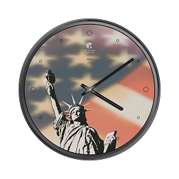 Chicago Lighthouse | NYC - Statue of Liberty  12.75 inch decorative wall clock