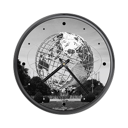 Chicago Lighthouse | NYC - Queens - Unisphere   12.75 inch decorative wall clock
