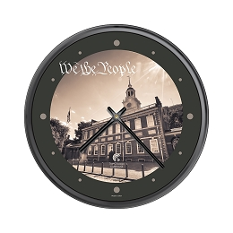 Chicago Lighthouse | Philadelphia - We the People   12.75 inch decorative wall clock