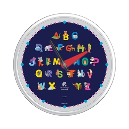 Chicago Lighthouse | Alphabet Animals  12.75 inch children's wall clock