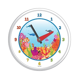 Chicago Lighthouse | Coral World  12.75 inch children's wall clock