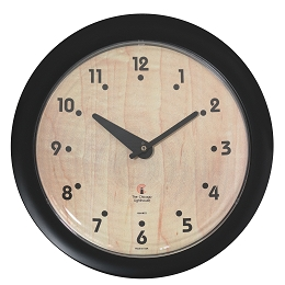 Chicago Lighthouse | Birchwood Bauhaus  14 inch decorative wall clock | Traditional Dial