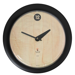 Chicago Lighthouse | Birchwood Bauhaus  14 inch decorative wall clock | Contemperary Dial