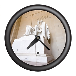 Chicago Lighthouse | Washington DC - Lincoln Memorial  14 inch decorative wall clock