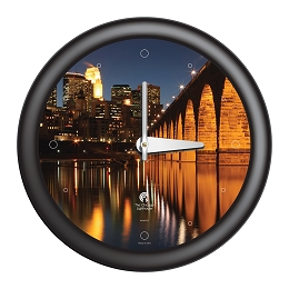 Chicago Lighthouse |- Minneapolis - 3rd St. Bridge  14 inch decorative wall clock
