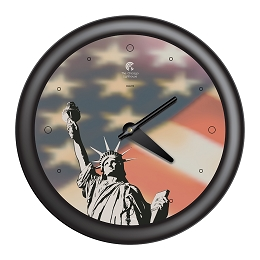Chicago Lighthouse |- NYC - Statue of Liberty  14 inch decorative wall clock