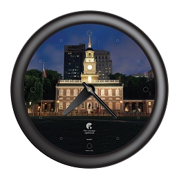Chicago Lighthouse | Philadelphia - Independence Hall  14 inch decorative wall clock