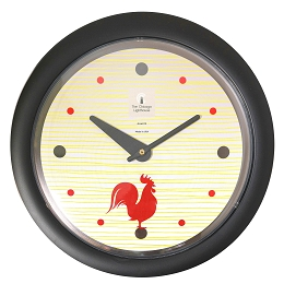Chicago Lighthouse |- Morning Rooster 14 inch decorative wall clock