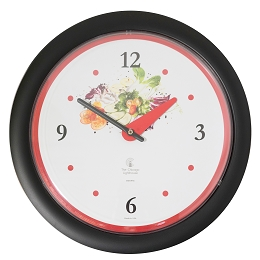 Chicago Lighthouse | Vegetable Garden 14 inch decorative wall clock | Red Accent