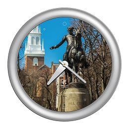 Chicago Lighthouse | Boston - Paul Revere   14 inch decorative wall clock