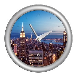 Chicago Lighthouse | NYC - Skyline  14 inch decorative wall clock