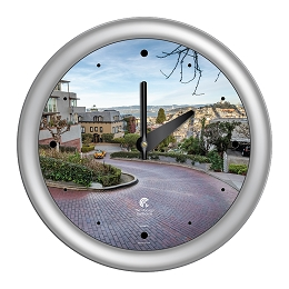 Chicago Lighthouse | San Francisco - Lombard St.  14 inch decorative wall clock