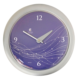 Chicago Lighthouse | Vines & Dots  14 inch decorative wall clock | Shadow Purple Dial