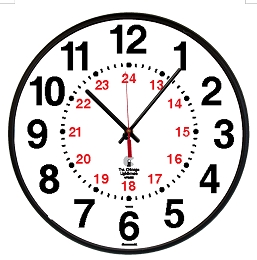 12/24 Hour Wall Clock | 12.75