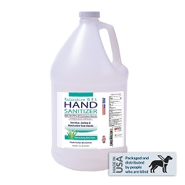 Hand Sanitizer, Aroma Therapy Gel with Aloe Vera - 1 gal. refill