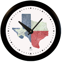 Chicago Lighthouse | Texas Flag 14 inch decorative wall clock