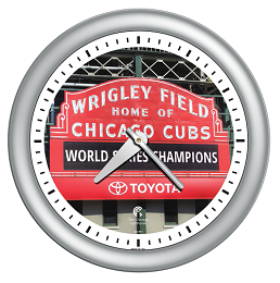 Chicago Lighthouse | Wrigley Silver 14 inch decorative wall clock