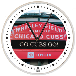 Chicago Lighthouse | Wrigley white  12.75 inch decorative wall clock