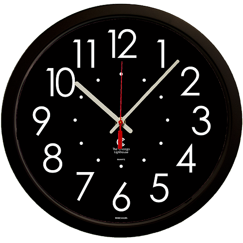 "Large  High Contrast Dial Face 14.5"" Quartz Movement Decorative Wall Clock -"