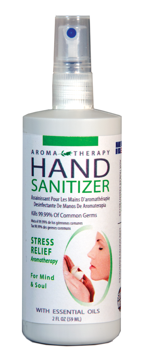 Hand Sanitizer, Aroma Therapy - 2 oz. spray bottle