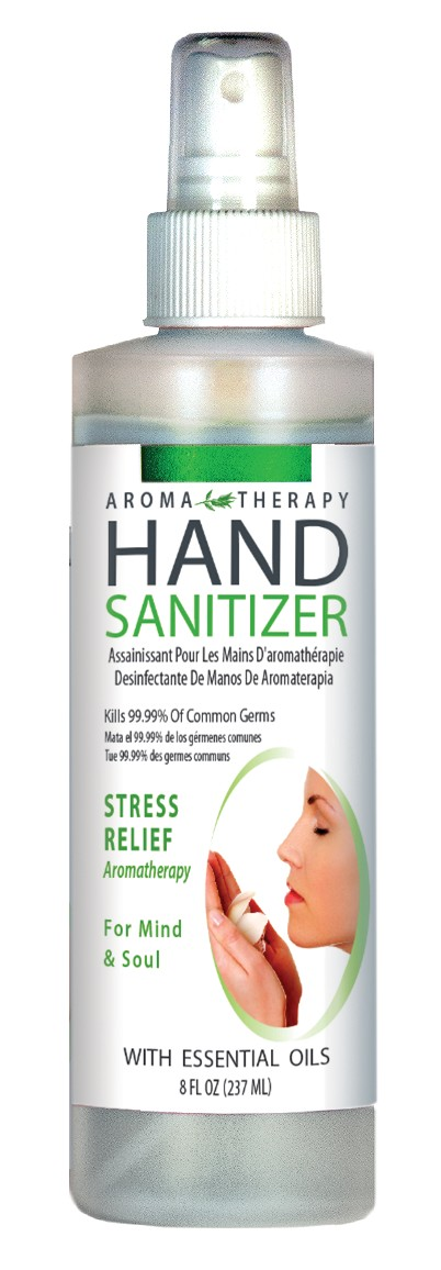 Hand Sanitizer, Aroma Therapy - 8 oz. spray bottle
