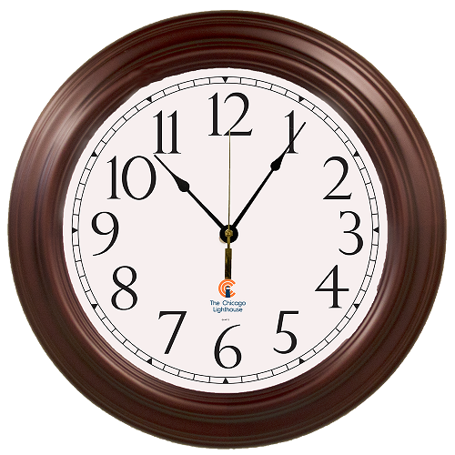 "Mahogany Hardwood 16"" Quartz Movement Decorative Wall Clock -"