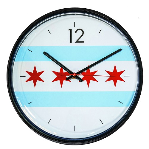 Chicago Lighthouse | City Flag - Chicago 12.75 inch decorative wall clock
