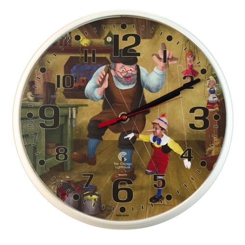 Chicago Lighthouse | LB Treasures - Pinocchio 12.75 inch children's wall clock