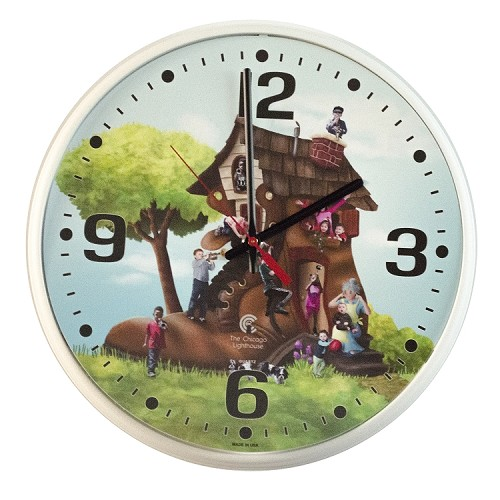 Chicago Lighthouse | LB Treasures - Lady in Shoe 12.75 inch children's wall clock