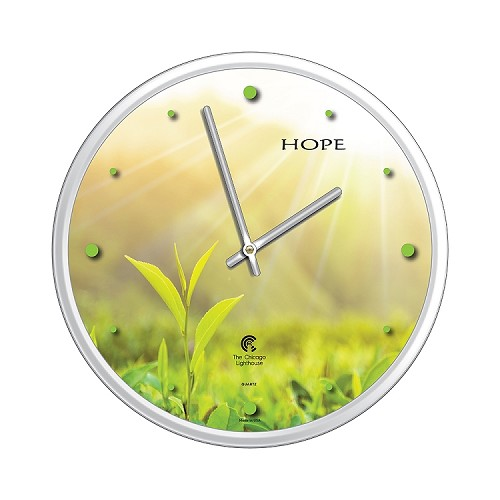 Chicago Lighthouse | Tea Leaf Hope  12.75 inch decorative wall clock