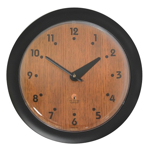 Chicago Lighthouse | Oak Veneer 14 inch decorative wall clock | Traditional Dial