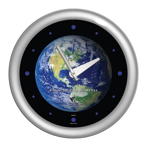 Chicago Lighthouse | Peace on Earth  14 inch decorative wall clock