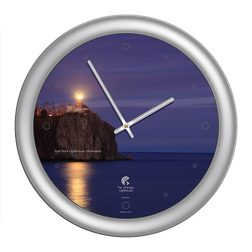 Chicago Lighthouse | - Split Rock Lighthouse 14 inch decorative wall clock