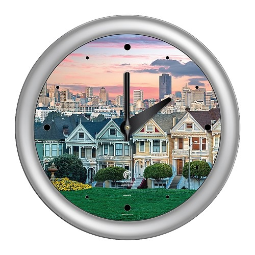 Chicago Lighthouse | San Francisco - Painted Ladies  14 inch decorative wall clock