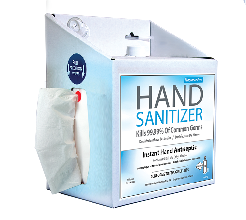 Hand Sanitizer, Fragrance Free - 12 oz. Station w/ 300 wipes