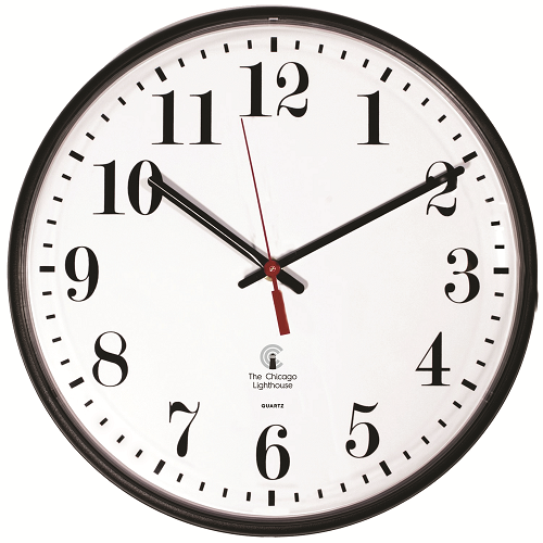 "Indoor & Outdoor  Commercial/Residential Wall Clock | 12.75"" Black Slimline Body Quartz Movement"