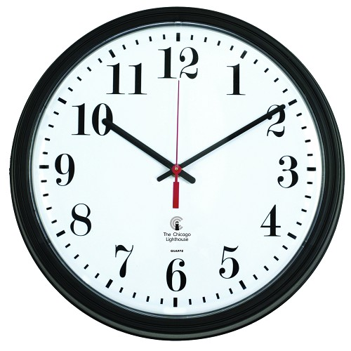 "13.75"" Black Contract Commercial/Residential Quartz Movement Wall Clock"